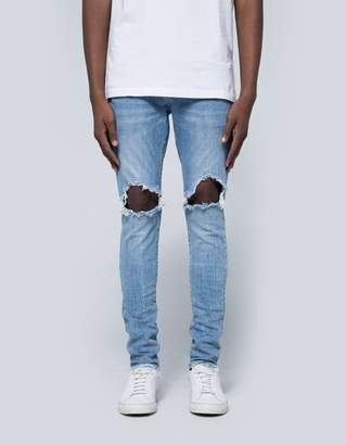 Purple 002 Dropped Fit Denim in Light Indigo Patch