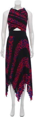 Proenza Schouler Pleated Asymmetrical Dress w/ Tags Black Pleated Asymmetrical Dress w/ Tags