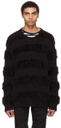 TAKAHIROMIYASHITA TheSoloist. Black Oversized Border Stripe Sweater