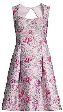Aidan Mattox Women's Floral Jacquard Cocktail Dress