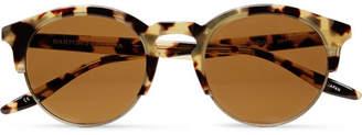 Barton Perreira Griffin Round-Frame Tortoiseshell Acetate and Gold-Tone Sunglasses