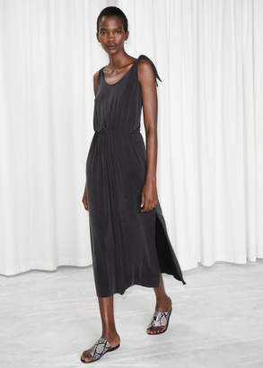 And other stories Ruched Waist Midi Dress
