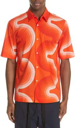 Dries Van Noten Clasen Wave Print Shirt