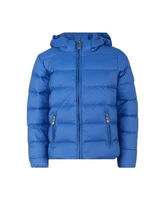 Pyrenex Spoutnic Water Repellant Hooded Coat Colour: DENIM BLUE, Size: