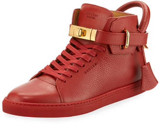 Buscemi Men's 100mm High-Top Sneakers, Red