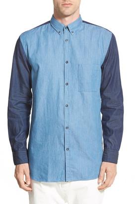 Zanerobe Longline 7ft Long Sleeve Trim Fit Shirt $119 thestylecure.com
