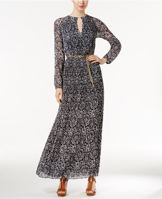 MICHAEL Michael Kors Printed Pleated Maxi Dress $255 thestylecure.com