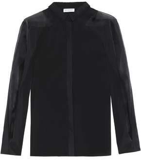 Vionnet Silk Organza-Paneled Cotton-Blend Poplin Shirt