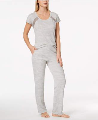 Alfani Mesh-Stripe Pajama Set, Created for Macy's