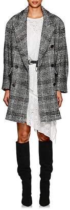 Etoile Isabel Marant Women's Ebra Plaid Houndstooth Knit Peacoat