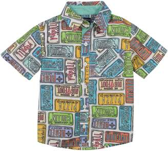 Andy & Evan License Plate Woven Shirt