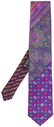 Etro print mix tie