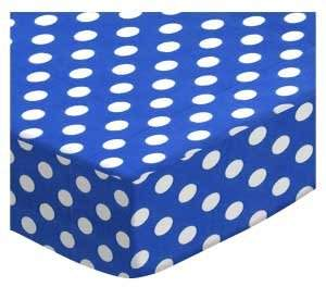 Graco SheetWorld Fitted Pack N Play Sheet - Polka Dots Royal Blue - Made In USA - 27 inches x 39 inches (68.6 cm x 99.1 cm)