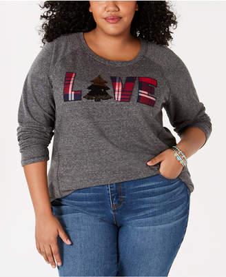Style&Co. Style & Co Plus Size Love Graphic Sweatshirt