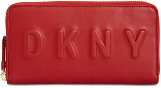 DKNY Zip Around Logo Wallet