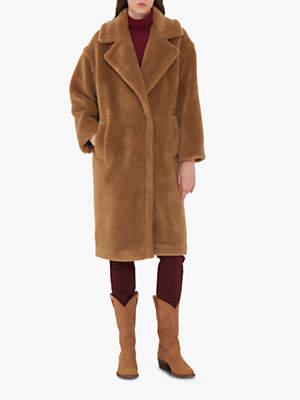 Gerard Darel Faux Fur Miranda Coat, Brown