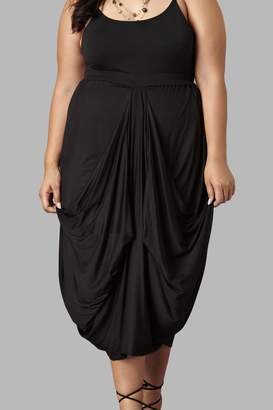 Yona New York Drape Maxi Black Skirt