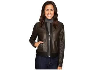 Via Spiga Leather Jacket Women's Coat