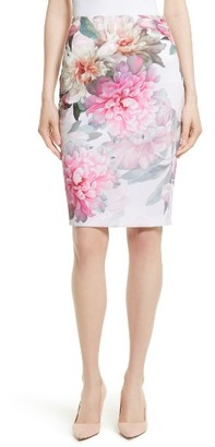 Women's Ted Baker London Melodey Painted Posie Pencil Skirt $195 thestylecure.com