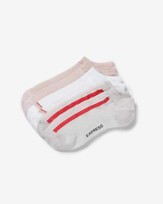 Express 3 Pack Solid And Striped Ankle Socks