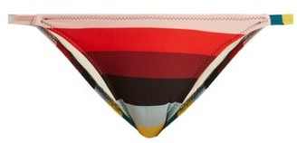 Solid & Striped The Morgan Striped Bikini Briefs - Womens - Red Multi