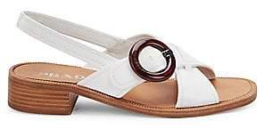 Prada Women's Leather Slingback Sandals