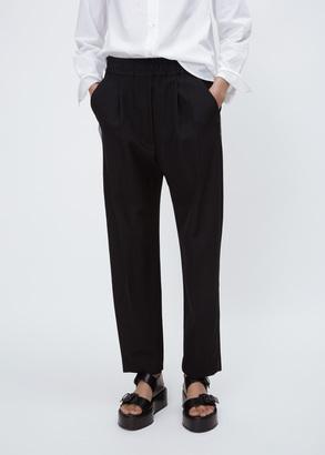 Haider Ackermann berkeley black / cantar black elastic waistband trousers $920 thestylecure.com