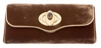 Judith Leiber Embellished Velvet Clutch