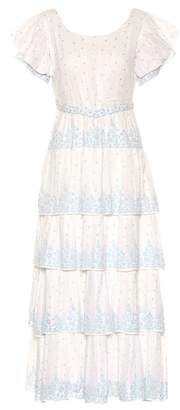 LoveShackFancy Martine cotton voile maxi dress