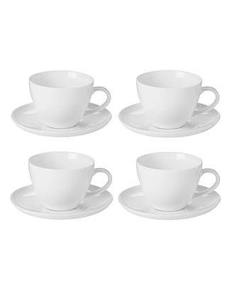 Fashion World Fine China Set of 4 Cup and Saucers