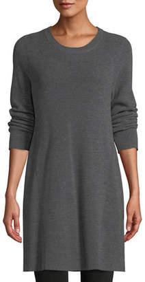 Eileen Fisher Merino Wool Tunic Sweater, Plus Size