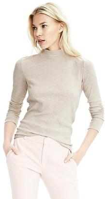 Long-Sleeve Ribbed Mock-Neck Top $34.50 thestylecure.com