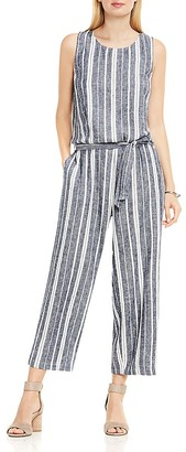 Two by VINCE CAMUTO Belted Stripe Jumpsuit $129 thestylecure.com