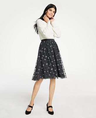 Ann Taylor Sequin Dot Tulle Skirt