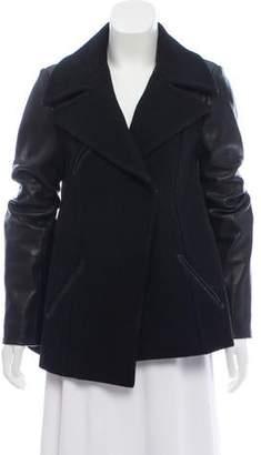 Veda Leather Trimmed Short Coat