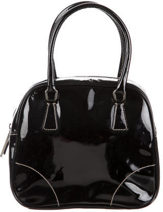 prada Prada Small Patent Handle Bag