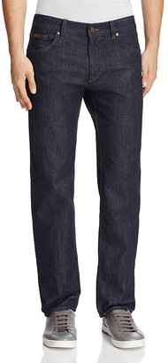 BOSS Green C-Maine New Basic Denim Straight Fit Jeans in Navy $155 thestylecure.com
