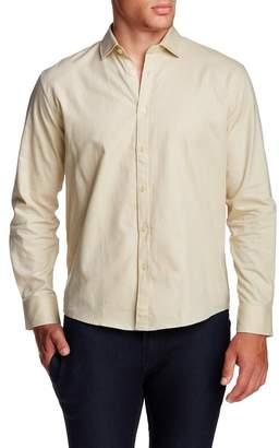 Singer + Sergant Long Sleeve Birdseye Woven Regular Fit Shirt
