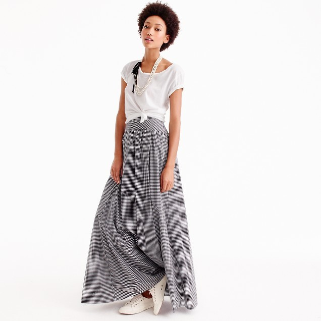 Ball skirt in gingham