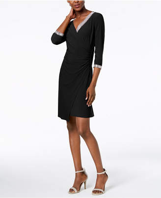 MSK Embellished Wrap Dress
