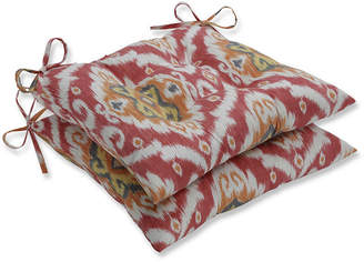 PILLOW PERFECT Pillow Perfect Set of 2 Ubud Coral Wrought Iron Patio Seat Cushion
