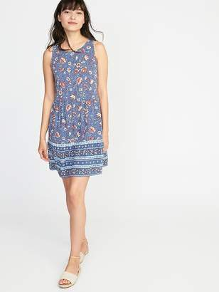 Old Navy Sleeveless Floral Tiered Swing Dress for Women