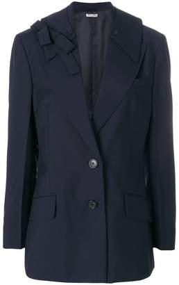 Miu Miu bow shoulder blazer