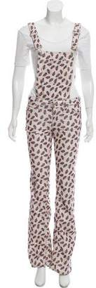 Etoile Isabel Marant Corduroy Floral Print Overalls w/ Tags