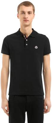 Moncler Logo Cotton Piqué Polo Shirt