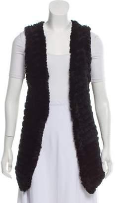 Adrienne Landau Knitted Fur Vest
