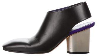 Céline Leather Slingback Booties
