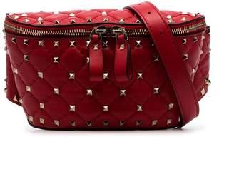 Valentino red Rockstud small stud embellished leather belt bag