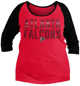 5th   Ocean Women Atlanta Falcons Plus Size Colorblock Raglan T-Shirt 5c2e7fc13