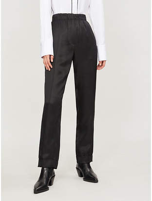 Helmut Lang Straight-leg silk-blend trousers